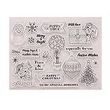 ECMQS Festive Wishes DIY Transparente Briefmarke, Silikon Stempel Set, Clear Stamps, Schneiden Schablonen, Bastelei Scrapbooking-Werkzeug