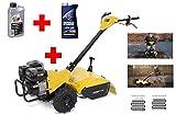 Benzin Gartenfräse / Kultivator 6,5 PS 196 ccm + 1 l Motoröl + 1 l Getriebeöl