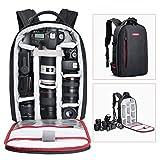 beschoi DSLR Kamera-Rucksack Wasserdichte Kameratasche für Sony Canon Nikon Olympus SLR/DSLR Kamera, Objektiv und Zubehör, groß (schwarz)