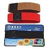 KUNSE Carbon Fiber 3K RFID Blocking Men Es Business Credit Card Money Clip Holder Slim Wallet with 3 Bands