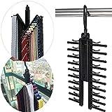 Veward 360 Grad drehbare Einstellbare Gürtel Aufhänger Tie Rack Schal Halter