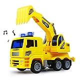 Bagger Spielzeug Fahrzeuge Kinder Baustelle Sandspielzeug mit Licht Und Sound Bagger Kinder Lastwagen für Geburtstags Geschenke 3 4 5 Jahre Mädchen Junge