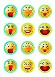 Muffinaufleger Muffins Cupcakes Amerikaner Kindergeburtstag Smiley Smileys SM02