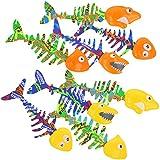 com-four 8X Tauchspielzeug als Fisch Tauch-Set zum Tauchen Lernen für Kinder (08 Stück - Fische)