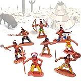 German Trendseller 24 x Indianer - Spielzeug Figuren ┃ Neu ┃ Kindergeburtstag ┃ Mitgebsel Mix ┃ Indianer Figuren Mix ┃ 24 Stück
