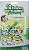 Dekoback Essbare Zucker-Muffinaufleger Fußball, 1er Pack (1 x 42 g)