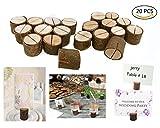 Holz Holzsteg Dproptel Kartenhalter Platzkarte Tischkartenhalter Zettelclips für Hochzeit Party 20 Stücken