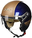 Soxon SP-325-URBAN Blue · Jet-Helm Retro Biker Chopper Mofa Helmet Roller-Helm Pilot Cruiser Motorrad-Helm Vintage Vespa-Helm Bobber · Blau · M (57-58cm)