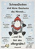 Sheepworld 61032 Adventskalender 'Schneeflocken sind kleine Geschenke des Himmels', mit Schokolade
