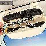 Auto Brillenhalter Brillenhalterung Brillenbox, Magnetischer Brillenhalter, Universal Sonnenbrillenhalter Brillenetui Brillen Halter Auto für Karte Ausweis Münze mit Kartensteckplätze