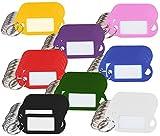 PEARL Schlüssel Beschriften: 96 Schlüsselschilder mit Schlüsselringen, zum Beschriften, 8 Farben (Kofferanhänger)