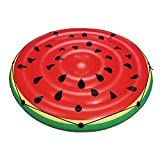 Unbekannt VARILANDO Pool-Spielzeug in 5 bunten Varianten Flamingo Krokodil Pool-Zubehör Aufblas-Tiere Bade-Insel (Melonen-Badeinsel)