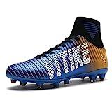 Kinder und Männer AG Fußball Stiefel Teenager Fußball Leichtathletik Training Schuhe Fußballschuhe Damen/Mädchen(blau EU38)