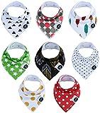 Baby dreieckstuch Lätzchen, 8er Set 100% Bio-Baumwolle für Jungen und Mädchen