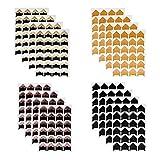 Funyu 16 Blätter Fotoecken Selbstklebend Ecken mit 384 Aufkleber für Fotos Montage Ecken Aufkleber Papier für DIY Fotoalbum Scrapbook Album Tagebuch Bild Dekoration(Vintage)