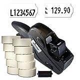 Preisauszeichner Set: Handauszeichner Uno C8 für 26x12 inkl. 15.000 HUTNER Preisetiketten weiss permanent + 1 Farbrolle | etikettieren | HUTNER