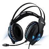 KLIM Impact V2 - Gaming Headset und Mikro (USB) - 7.1 Surround-Sound + Isolation - Hochqualitativer Klang + Klangvolle Bässe - Gaming Headset und Mikro für PC/PS4/Switch Videospiele - Version 2