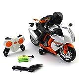 MEILA Kind Fernbedienung Motorrad Spielzeug Lade Drift drehen Trick Fernbedienung Auto high Speed Rennwagen Modell Junge Geschenk (Color : Black)