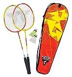 Talbot-Torro Premium Badminton-Set 2-Fighter, 2 Alu-Schläger leicht und handlich, 2 Federbälle, in wertiger Tasche, Federballset, 449503