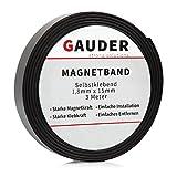 Magnetband selbstklebend I ORIGINAL von GAUDER I Magnet I Magnetklebeband I Magnetklebestreifen I Magnetisches Klebeband I Magnetstreifen I Schule & Präsentation
