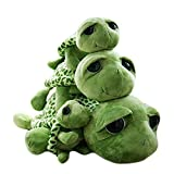 Haodou Plüsch Schildkröte Puppe Große Augen Die Schildkröte Plüsch Tiere Spielzeug Cute Puppe Plüschtiere für Kinder - Grün(11.81'/30cm)