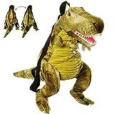 alles-meine GmbH 3-D Rucksack & Kuscheltier - XL groß -  Dinosaurier - Tyrannosaurus Rex - grü..