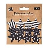 12 Stück DIY Textil Patch Aufbügler Aufbügelflicken Applikation Stern zum Selber Flicken Stylen Dekorieren ca. 5 x 5 cm
