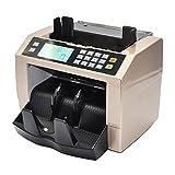 Aibecy Automatisch Multi-Währung Geldzählmaschine, Money Banknote Counter, Kasse Rechnung Geldzähler mit LCD Bildschirm, UV MG Gefälschter Detektor Externe Anzeigetafel für EUR USD AUD GBP usw.