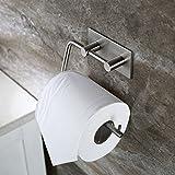 Selbstklebend Toilettenpapierrollenhalter, Papierhalter ohne bohren Edelstahl rostfrei für einfachstes und schnellstes anbringen