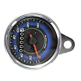 Oddity Motorrad Drehzahlmesser LED Motorrad Tachometer Mini Tacho Kilometerzähler Motorrad Universal-Tachometer Für Motorrad 12 V DC
