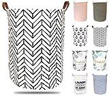 ephem - Wäschekorb faltbar, flexibel & passend. Wäschesack, Wäschesammler, Laundry Basket, Aufbewahrungsbox mit hochwertiger PE-Beschichtung. (Muster, 50x40cm)