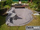 10 qm Teichvlies 300 g/qm | Premium Schutzvlies - 2 m breit x 5 m lang