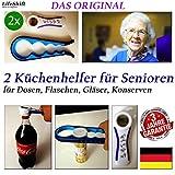 LifeShift Flaschenöffner für Senioren Plus Deckelöffner Dosenöffner Arthritis Arthrose 2xSET ORIGINAL