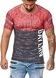 OneRedox Herren T-Shirt Fanshirt Fußball Mannschaft Support Barcelona, Paris, Dortmund, Schalke, Madrid, Bayern, Istanbul Bayern M
