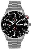 Astroavia Herren-Armbanduhr Chronograph Quarz Edelstahl N57S