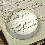 Kuppel-Briefbeschwerer/Lupe, 80mm, aus optischem Kristallglas, ergonomische Lupe, ideal zum Lesen von Büchern/Karten/Dokumenten und mehr, für Zuhause und Büro