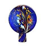 Rosenkugel aus Glas, 15 cm für außen, blau