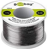 Goobay 40850 Lötzinn bleifrei; ø 0, 56 mm, 100 g umweltfreundliches Markenlötzinn mit einem Silberanteil (Ag) von 0, 3%