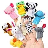 Acekid Baby Fingerpuppen, 10 stücke Kinder Plüsch Tier Handpuppen Set, Samt Geschichte Zeit Requisiten Puppen Spielzeug