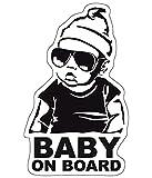 Baby on Board Aufkleber 18x11cm Auto Sticker -Finest Folia Autoaufkleber UV- Wetterfest Wasserfest Hangover