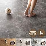 NEWROOM Vinylboden 5,5mm Klick Vinyl Bodenbelag I Fußbodenheizung geeignet I 39,99€ pro m² I Einzelpaket = 2,15m² I Bad geeignet Steinoptik leise und fußwarm