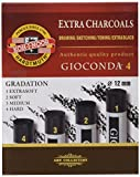 R-K5704-8694 - Zeichenkohle-Set von Koh-i-noor -Gioconda. 4 verschiedene Härtgrade. PREISWERTES TOP-