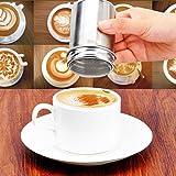 Wady 8 Dekoschablonen Kaffee Schablone Cappuccino Verzierer 1 Stück Schokolade Shaker Kakaostreuer