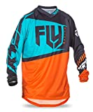 Fly Racing Flug 2017 F-16 Mx Motocross MTB Downhill Youth Jersey Orange/Smaragdgrün - Orange/Smaragdgrün, S