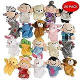 THE TWIDDLERS 20 Mehrfarbige Niedliche Tier-Fingerpuppen - Perfekt für Partygeschenke - Partytaschen & Strumpffüller - Klassenzimmerpreise - Klein Handpuppen Set