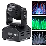 U`King Moving Head, LED Bühnenlicht Lichteffekt Disco DJ Beam Lichter RGBW für Bar Party Halloween Weihnachten Hochzeit(1 Stück)