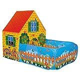 BINO 82816 | Kinder Spielzelt Haus mit Vorgarten | für Innen und Außen mit Pop-Up-System