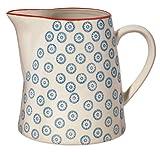 Bloomingville Teekrug Krug Kanne Milchkanne 'Emma' blau / handmade / fasst 700 ml