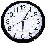 Tosnail Wanduhr ohne Tickgeräusche schwarz, 30*30cm