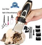 Yier Low Noise Professionelle Hundepflege Clippers Kit Wiederaufladbare Cordless Grooming Pet Clippers Für kleine mittlere große Hunde oder Katzen